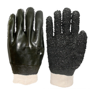 anti slip PVC gloves with dots