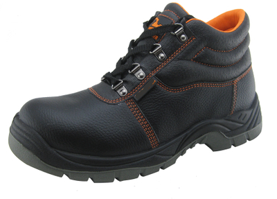 Very cheap leather safety shoes for middle east market