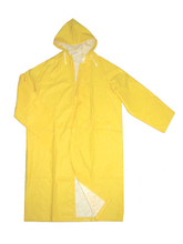 5102 yellow waterproof PVC polyester rain coat