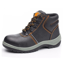 HS638 black steel toe industrial safety shoes for worker