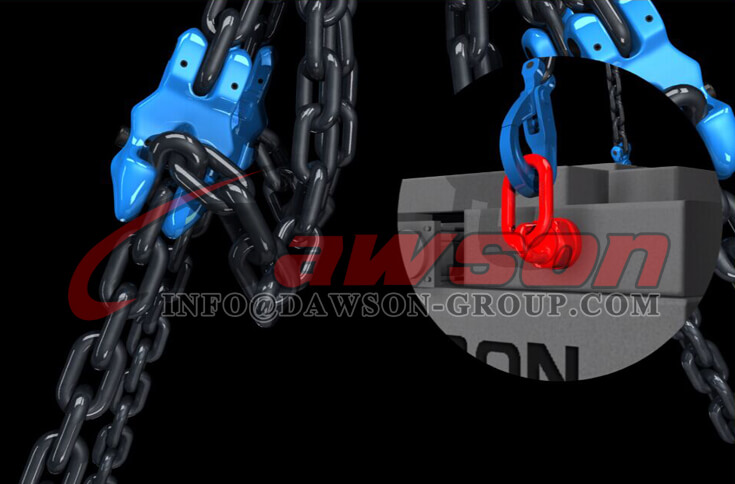Application of G100 Forged Alloy Steel Clevis Chain Clutch with Safety Pin for Adjust Chain Length - Dawson Group Ltd. - China Supplier, Exporter