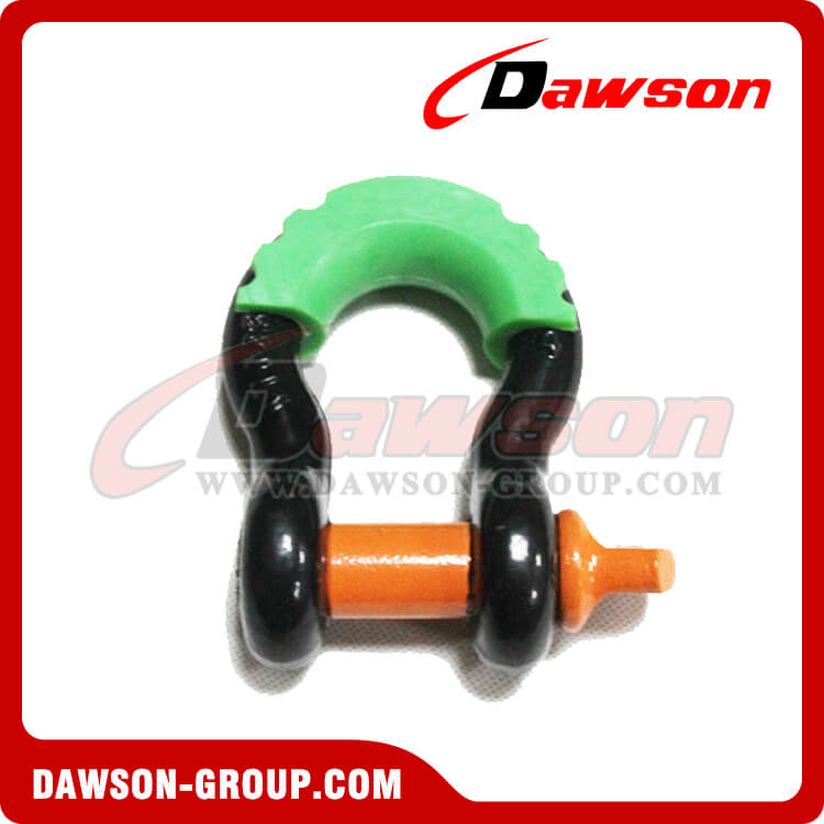 Forged Steel Bow Shackle with PU Protection for Recovery Strap
