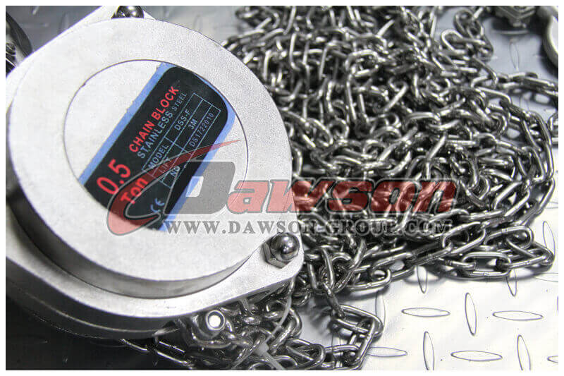 DSS-F stainless steel chain block - China Factory