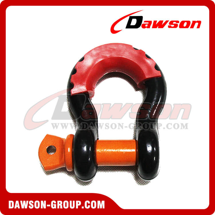 Forged Steel Bow Shackle with PU Protection for Recovery Strap China