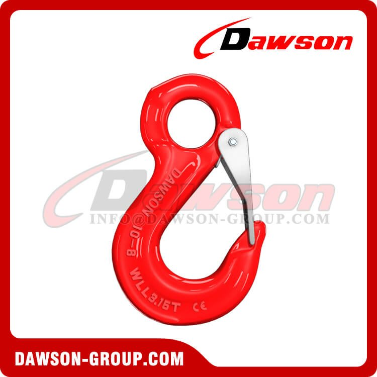 G80 Forged Eye Sling Hook with Cast Latch, Grade 80 Alloy Steel Eye Hook - Dawson Group Ltd. - China Manufacturer, Supplier