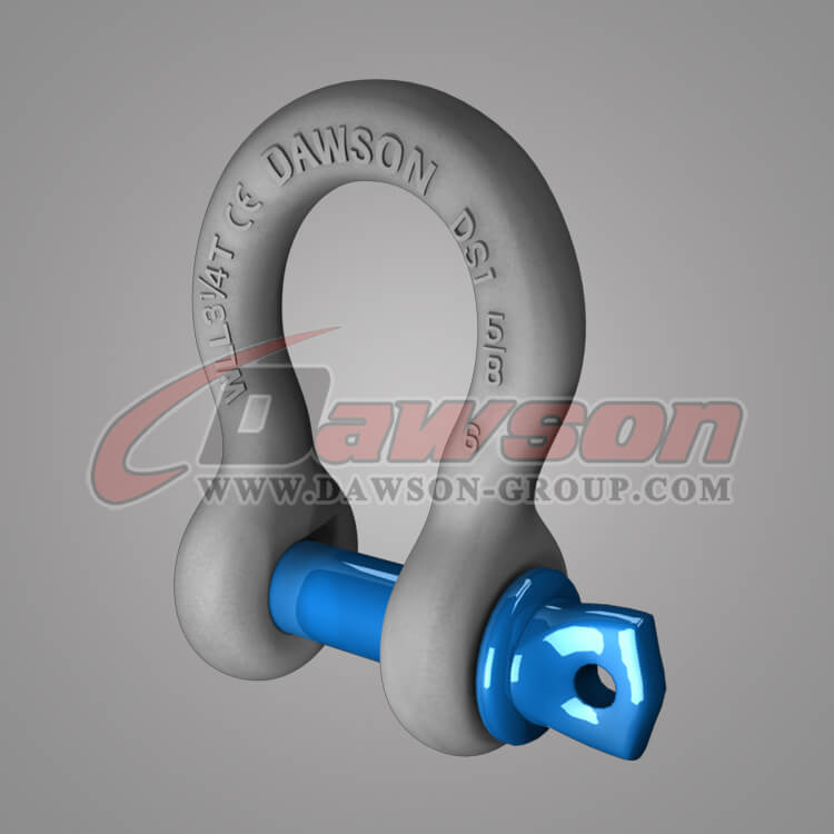 Dawson Brand Hot Dip Galvanized US Type Bow Shackle with Screw Pin - China Exporter