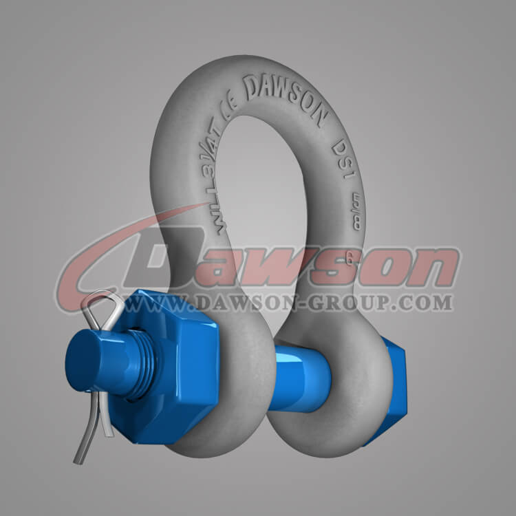 Dawson Brand Hot Dip Galvanized US Type Bow Shackle with Safety Pin - China Manufacturer Supplier, Exporter