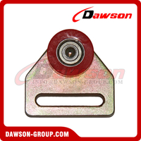 Zinc Plated Steel Roller with Red Wheel-Ball Bearing for Truck Part