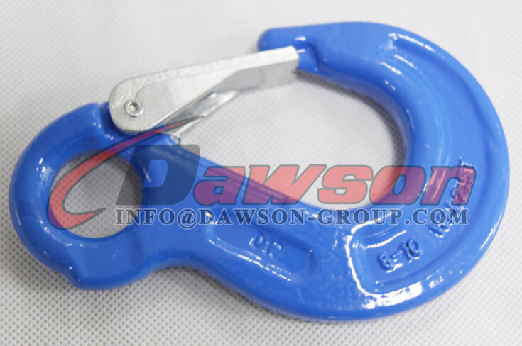 Grade 100 Eye Sling Hook with Latch for Chain Slings - Dawson Group Ltd. - China Supplier