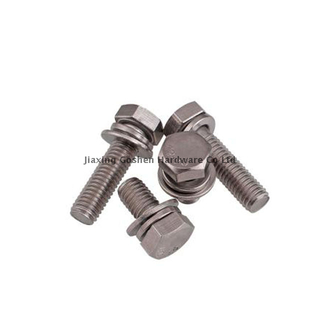 GB /T 9074.17 metric m8 stainless Steel hex head sems bolt used on the car