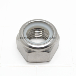 DIN985 hex head Nylon lock nut SS 304