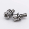m4 metric stainless steel hex socket head sems screws with flat washer