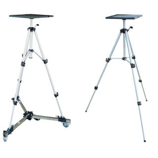 Portable Folding Projector Stand Tripod Table With Wheels