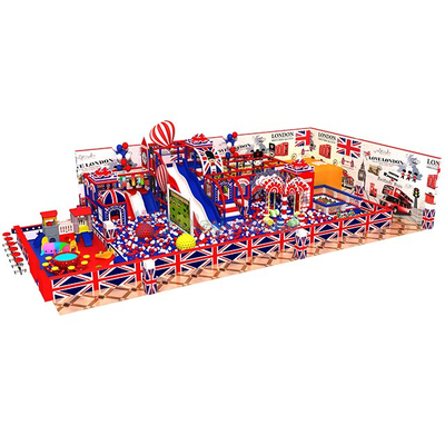 Colouful England Theme Kids Indoor Playground Aumsement Park Equipment