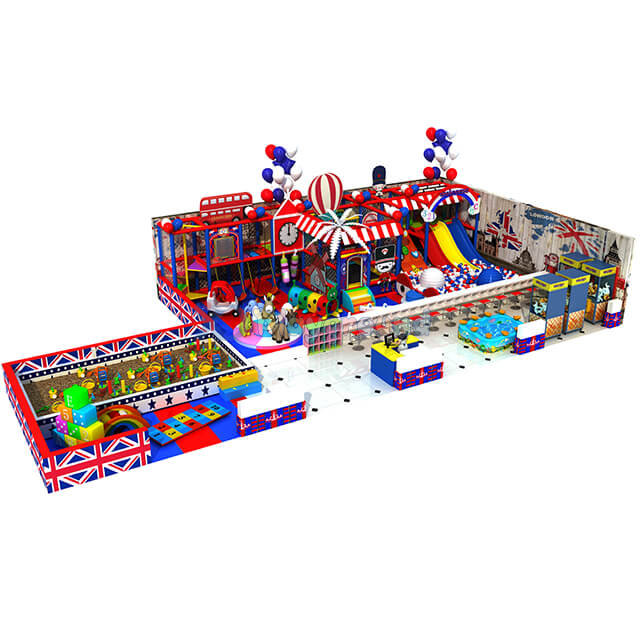 New Design Indoor Playground Children Soft Play Area with Trampoline