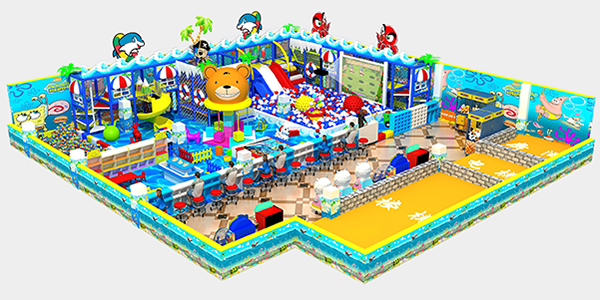 design draiwng of ocean theme indoor playground (1)