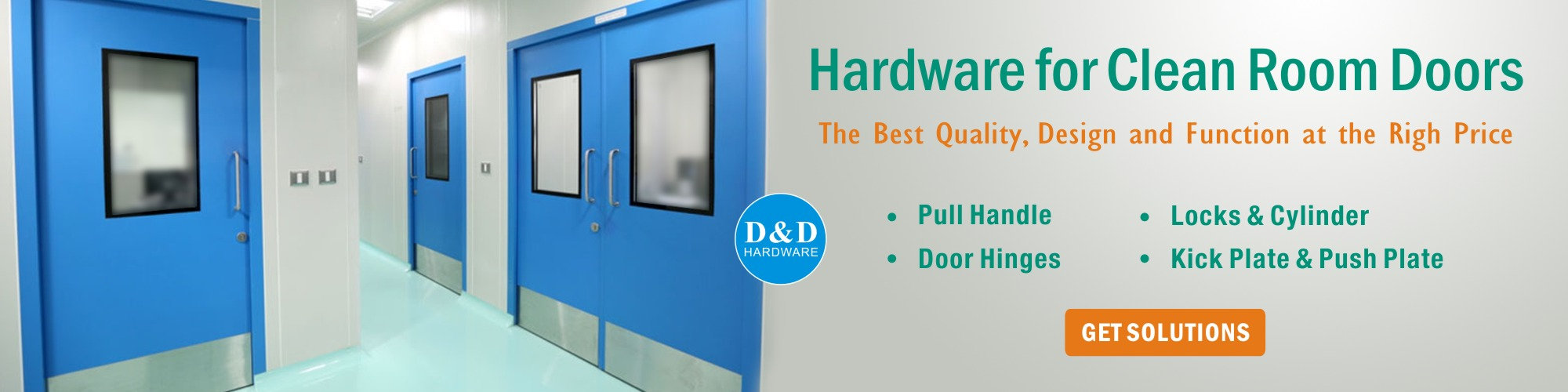 Door Hardware for Clean Room Doors-D&D Hardware manufacturer