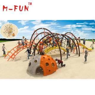 Rope climbing playground equipment
