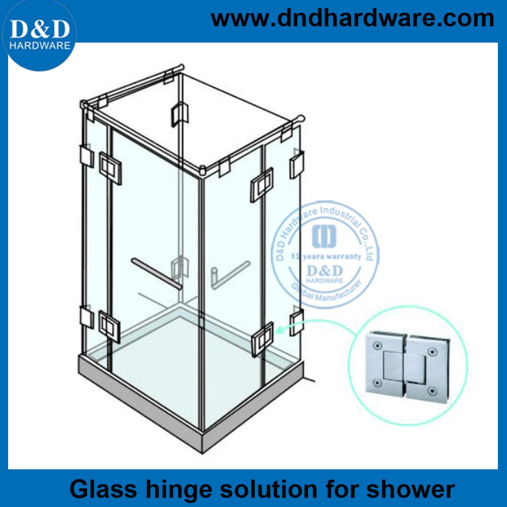 Heavy Duty Frameless Shower Door Hinges for Commercial Glass Door ...