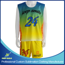 Custom Sublimation Lacrosse Clothing with Reversible Top and Short