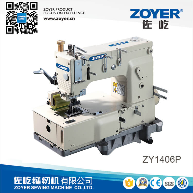 ZY 1406P Zoyer 6-needle flat-bed double chain stitch sewing machine