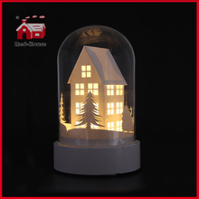 Mini House Design Glass Dome LED Home Decorative Glass Bell Dome Glass Giftware