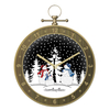 Snow ball music box wall clock decor wooden wall clock