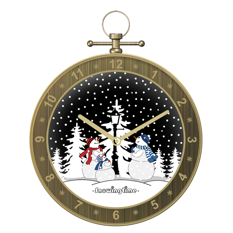 Snow ball music box wall clock decor wall art clock