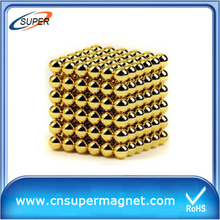Neocube magnetic 5mm 216 magnetic neodym magnet ball with golden coating