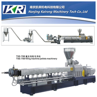 Plastic Pellets Twin Screw Extruder Filler Masterbatch Making Plastic Compound Machine