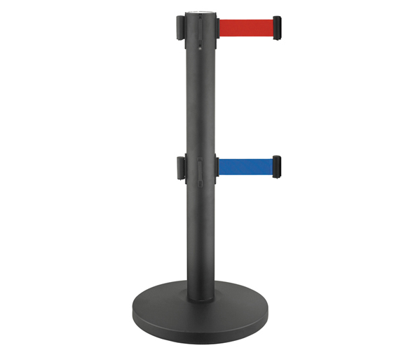 Black Painting Retractable Belt Crowd Control Posts & Stanchions for Airport