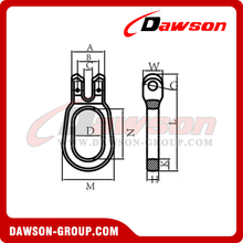 G100 Grade 100 Clevis Link For Container Lifting