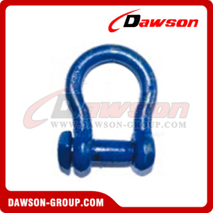 Trawling Bow Shackle Oversize Square Head Pin with Blue Painted, Fishing Anchor Shackle