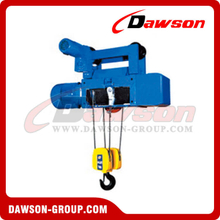 Standard Headroom Trolley Hoist For Wire Rope Hoist
