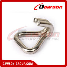 DSWH25081 B/S 800KG/1760LBS Stainless Steel Double J Hooks