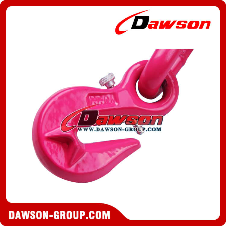 G80 eye grab hook with wing with safety pin load binder hook - China dawson group ltd