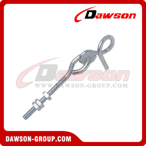 Stainless Steel Swing Hook with Bolt & 3 Nuts