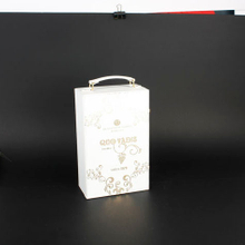 Wine Box Manufacturer White leather mini wine boxes