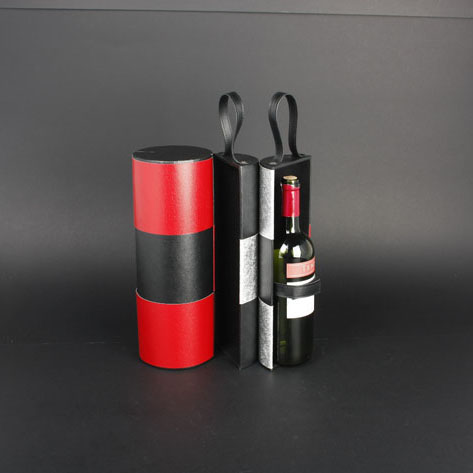 Wine Box Manufacturer PU leather luxury christmas wine gift bags