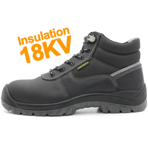 Waterproof Anti Slip Insulation 18KV Electrical Insulative Safety Shoes Composite Toe