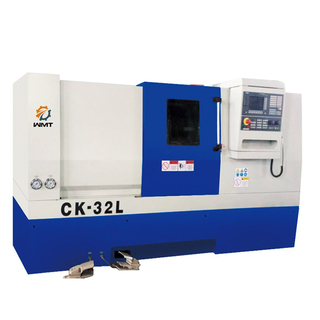"CK32L 12 1/2 "" X 18"" CNC Lathe with 8 Positions Toolpost & 2 1/4"" Bore"