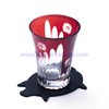 hand cut red horn shape wine or water glass cup