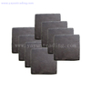 engraved sandblasted lase engraving hand made round and square black slate coaster holder
