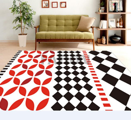 Anti-slip Print Bath Rug Home Kitchen Rug