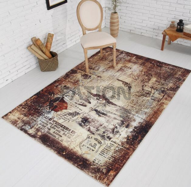 5'×8' Non-slip Print Area Rug Soft Floor Carpet