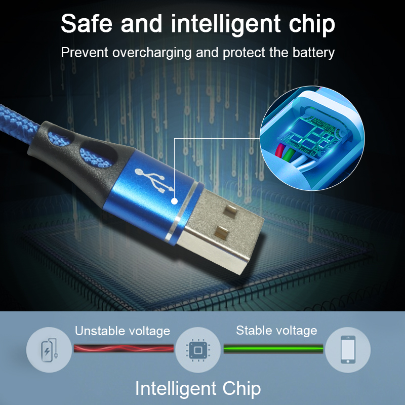 Charging USB Cable for iPhone with Intelligent Chip