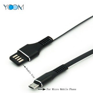 Double Sided USB Charging + Data Cable for Micro