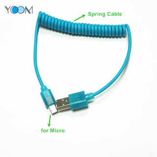 Spring USB Cable for Micro