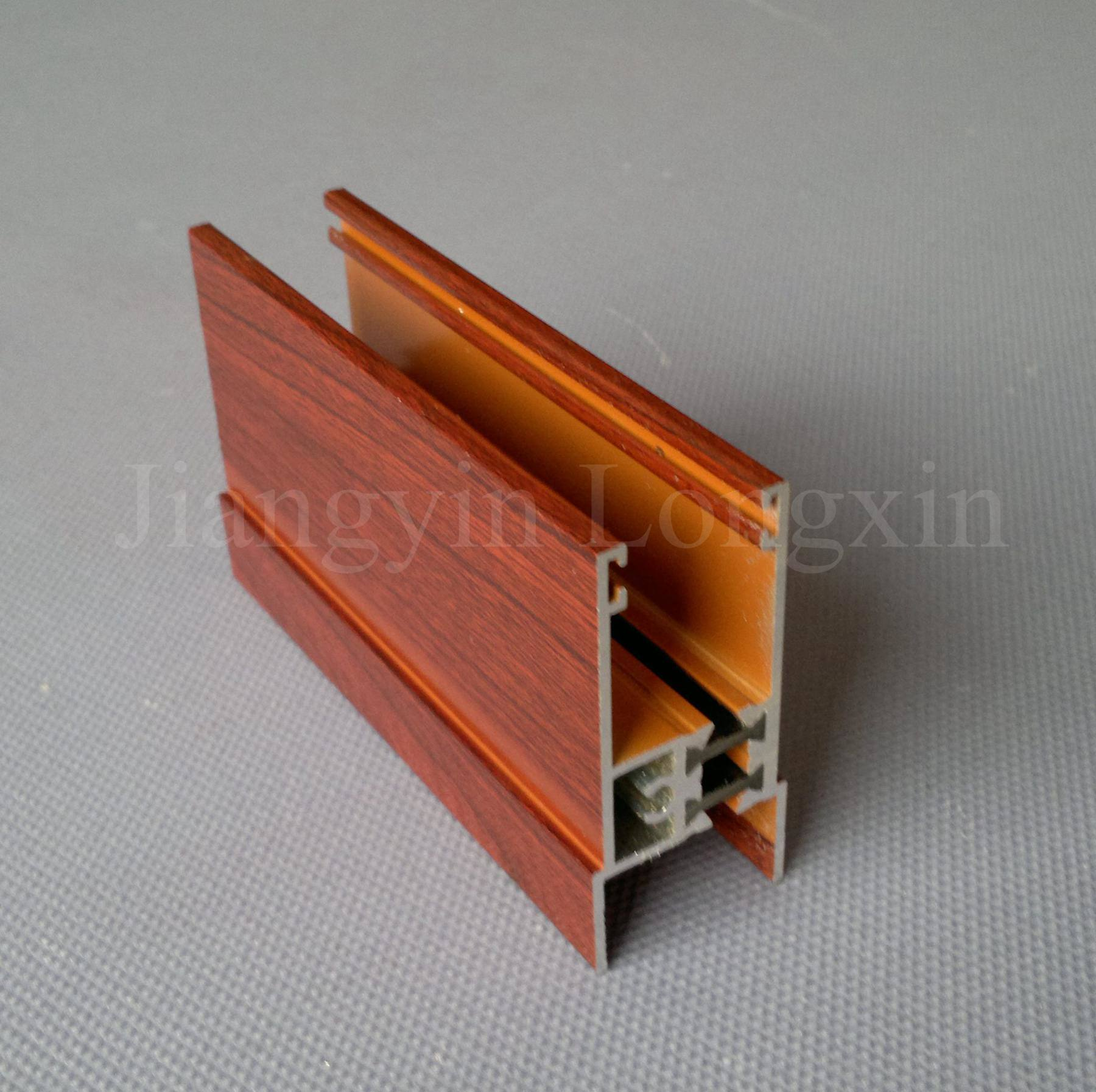 Wooden Transfer Printed Aluminum Profiles for Windows