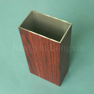 Aluminium Square Tube Wooden Transferred